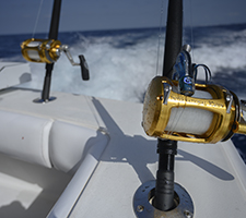 sport fishing boat fishing gear