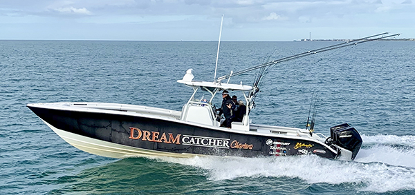 Yellowfin 36ft Center console, reef fishing boat